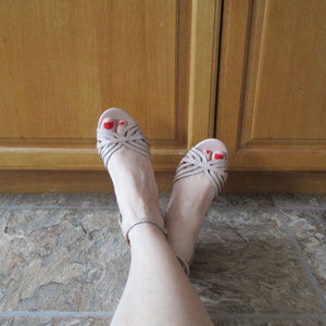 Montego Bay Strappy Wedges Size 7